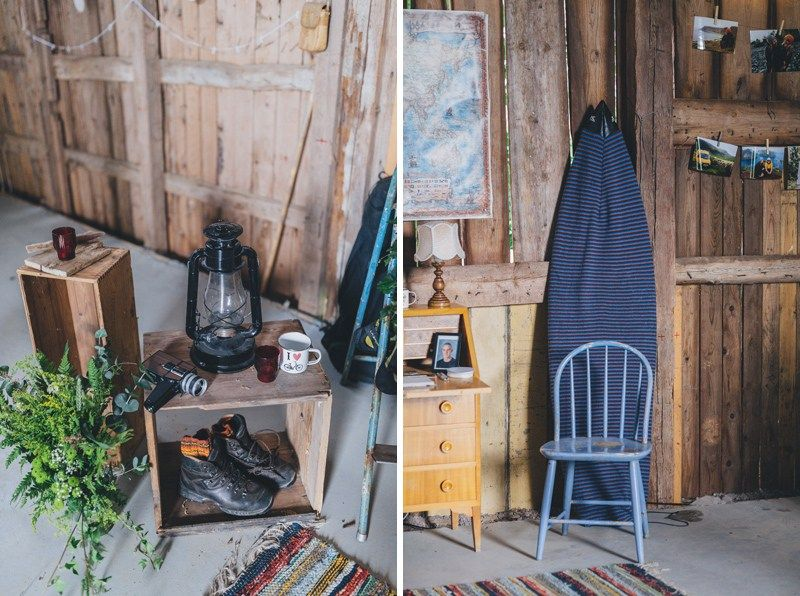 Van-life wedding with intimate barn reception ...