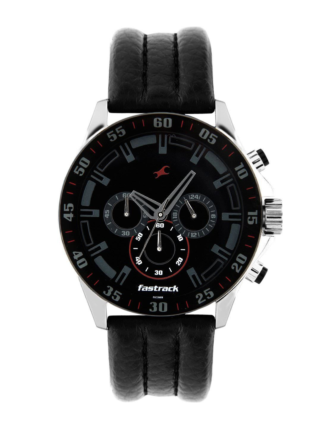 fastrack men black dial watch my passion watches fastrack men black dial watch