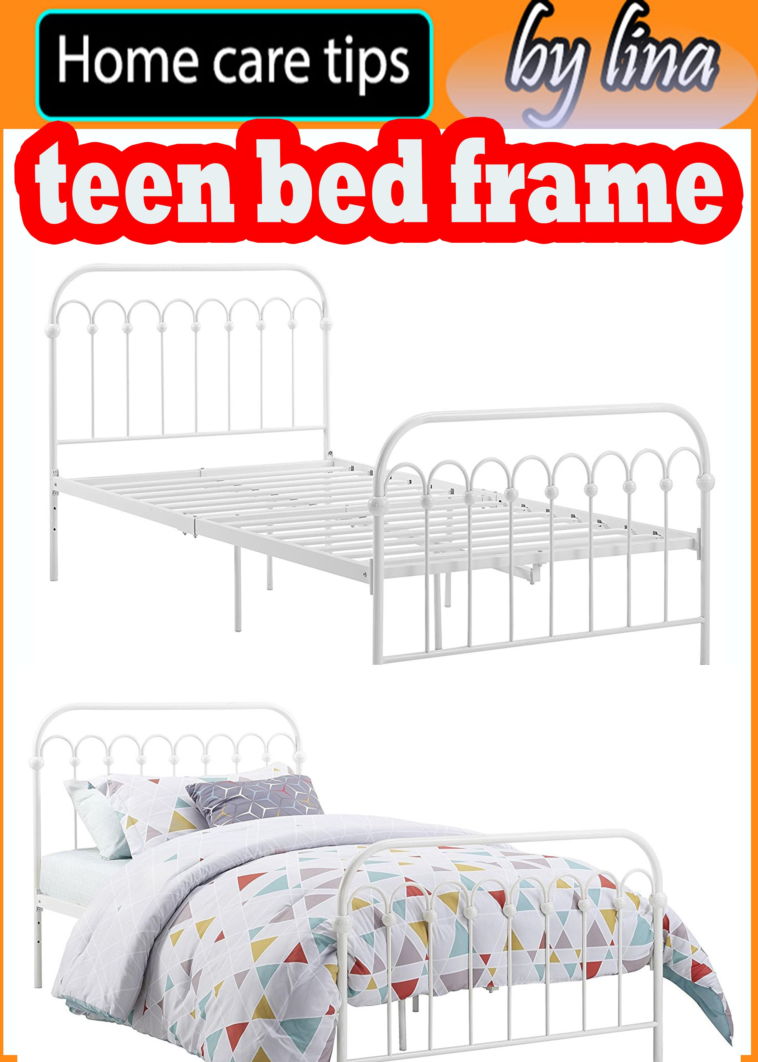 Bright Pop Metal Teen Bed Frame Adjustable Height For Underbed