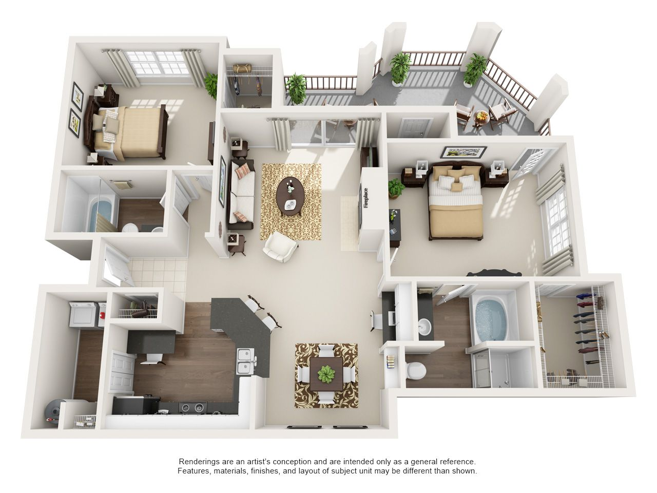 1 2 And 3 Bedroom Apartments Monticello By The Vineyard Sims House Plans House Layout Plans Apartment Floor Plans