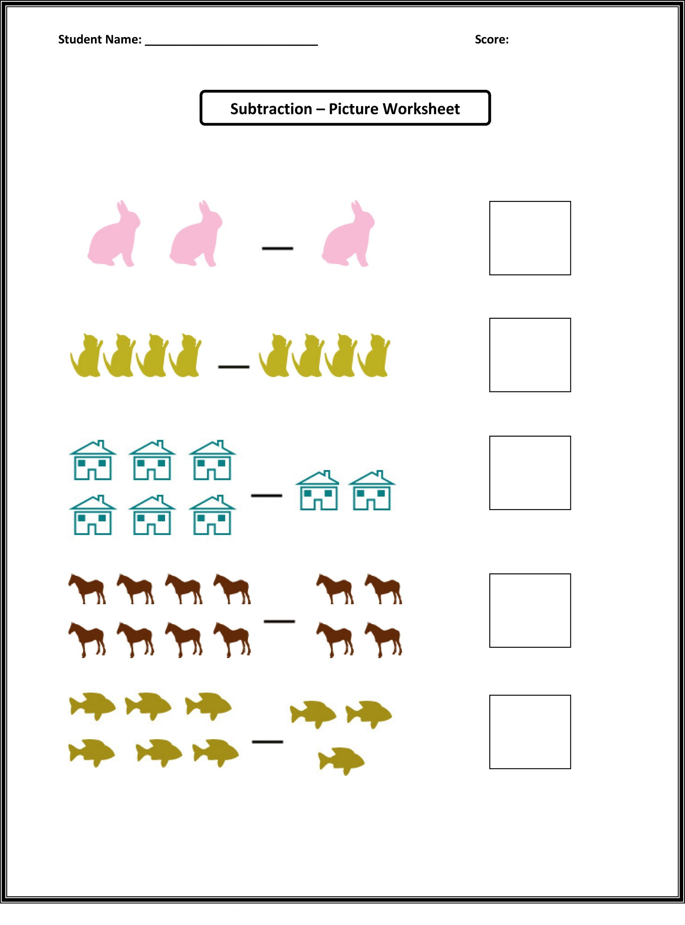 Pictures Of Math Worksheets For Preschool