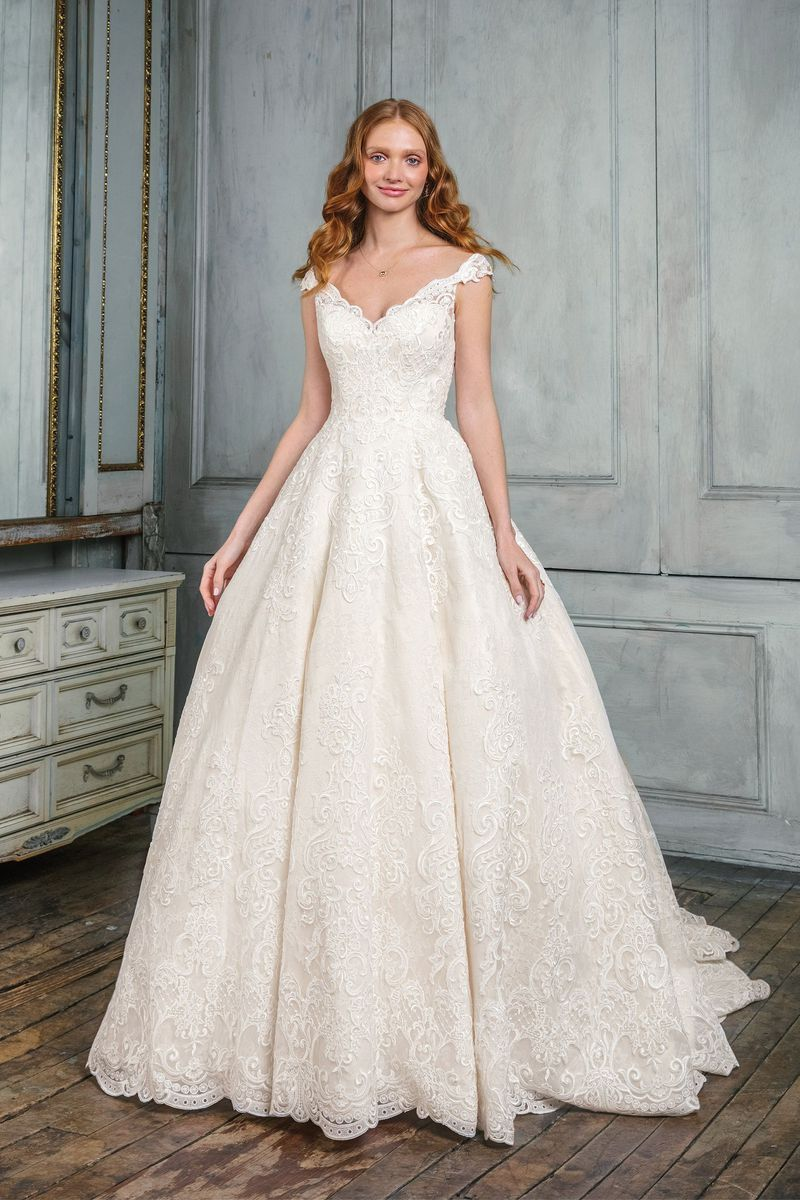 430f41193de7 Justin Alexander Signature - Style 99005  Allover Lace Off the Shoulder  Ball Gown