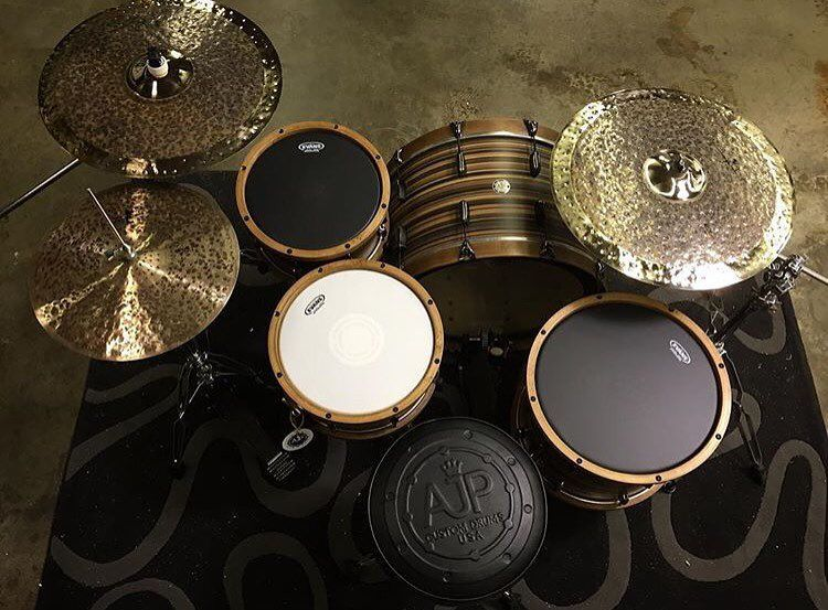 evans drumheads on instagram some beautiful work from our friends at ajpdrums instruments. Black Bedroom Furniture Sets. Home Design Ideas