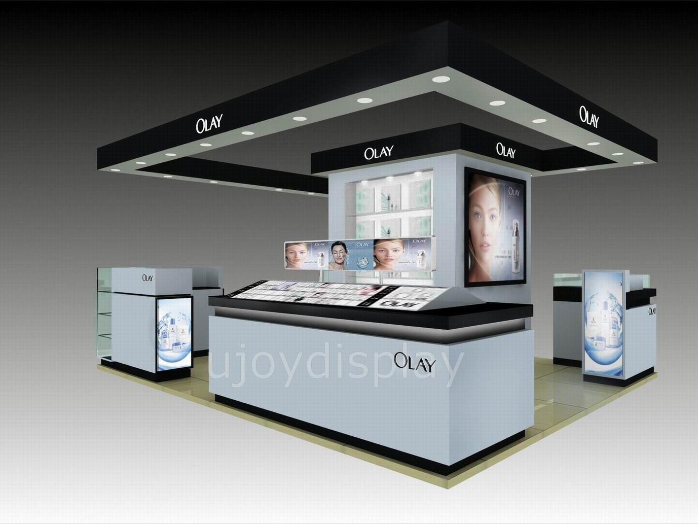 Expo Stands Kioska : Cosmetic mall display kiosk ujoy showcase