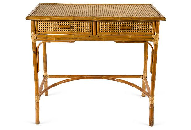 vintage rattan desk on onekingslane com bamboo furniture on exclusive modern nesting end tables design ideas very functional furnishings id=86348