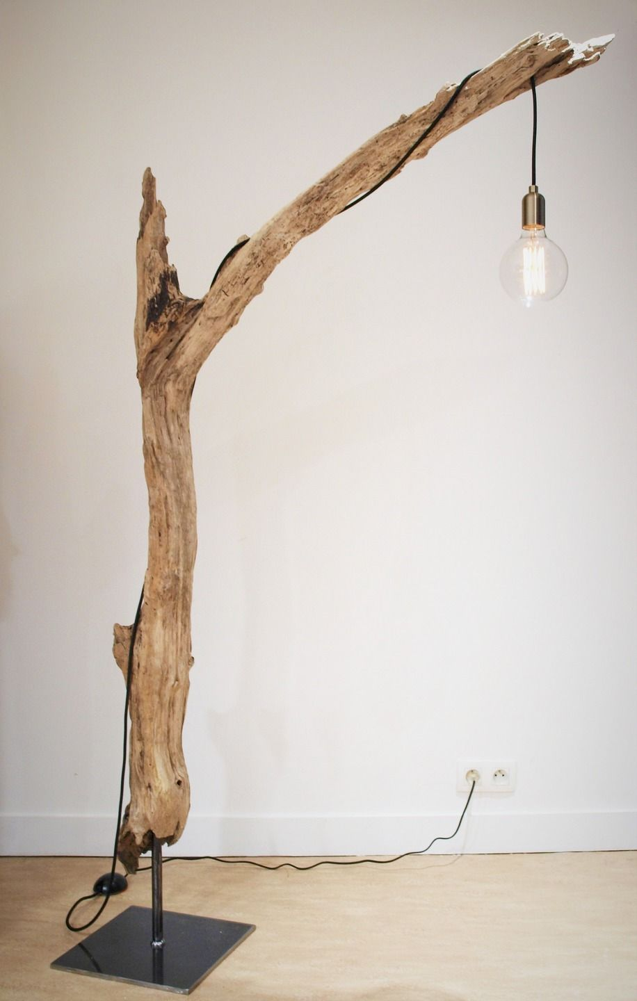 lampe bois flott doityourself pinterest driftwood salons and lights. Black Bedroom Furniture Sets. Home Design Ideas