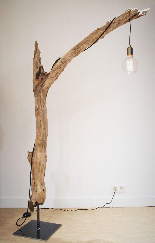 Lampes en bois flott - Fabriquer lampe bois flotte ...