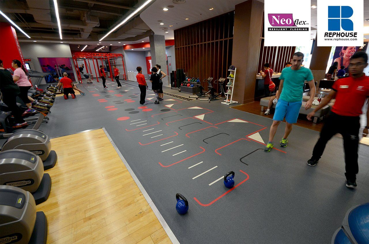 Neoflex 600 Series with Graphics Fitness Flooring