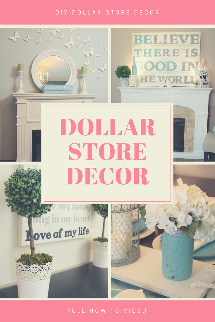 DIY Dollar Store Decor Ideas Decorate Your Home With Easy Projects From The Tree Or Dollarama