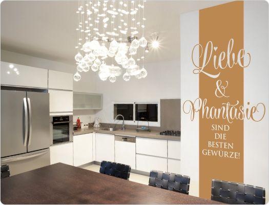 wandtattoo banner liebe und phantasie sind die besten gew rze wandtattoo k che kochen w rzen. Black Bedroom Furniture Sets. Home Design Ideas