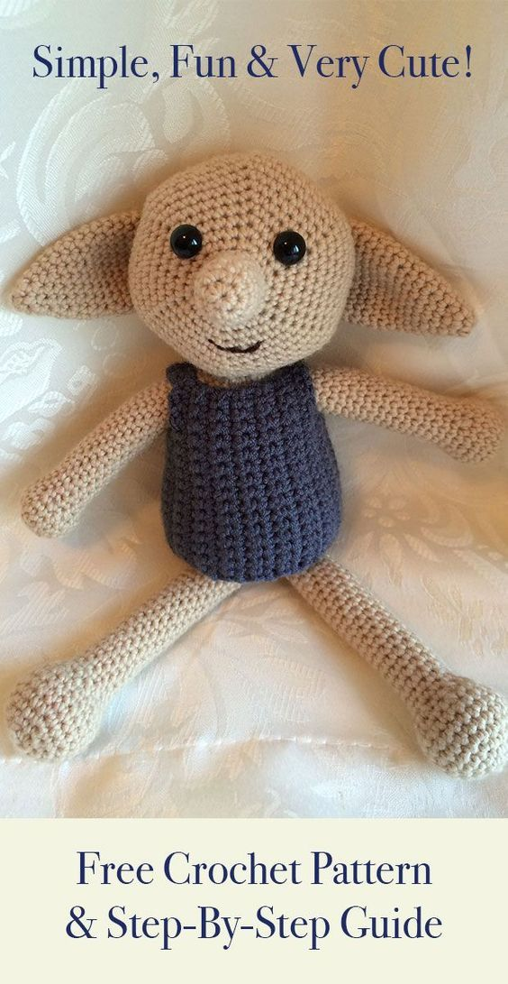 Crochet Dobby Make Your Own Dobby The House Elf Toy Crocheted