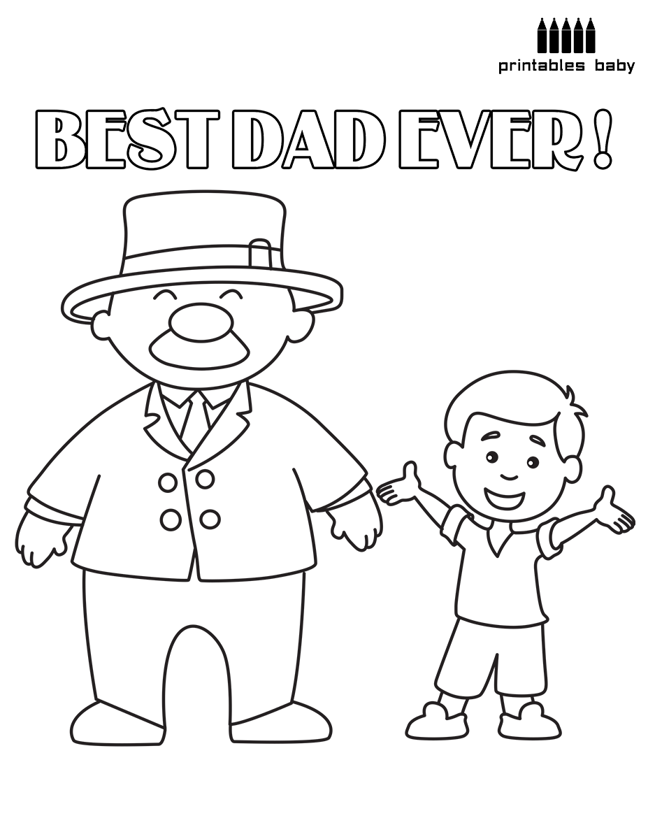 Happy Father's Day Best Dad Ever Printables Baby