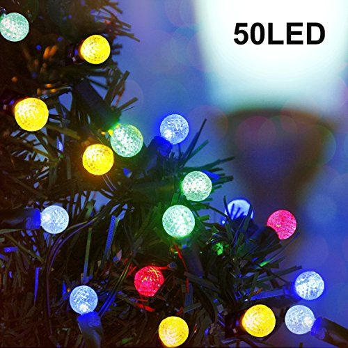 binval g12 solar string lights multicolor for outdoor patio lawn landscape garden home wedding holiday and
