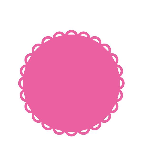 Scallop Lace Circle Svg File Chicfetti Parties Svg Shapes Free Svg Svg