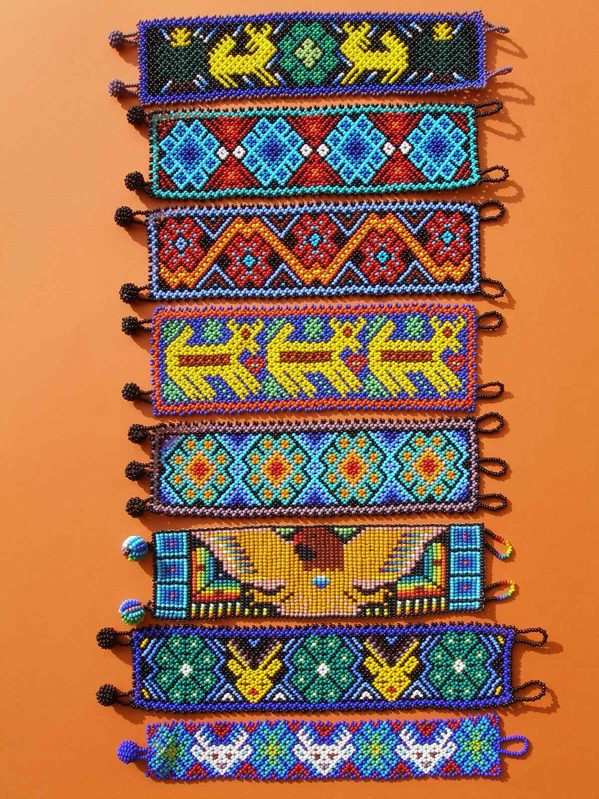 634ccd73a5cb Huichol Bracelets. Huichol Bracelets Artesanias Mexico ...