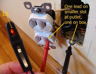 how to convert two prong outlets to three prong metesting for ground on a two prong outlet