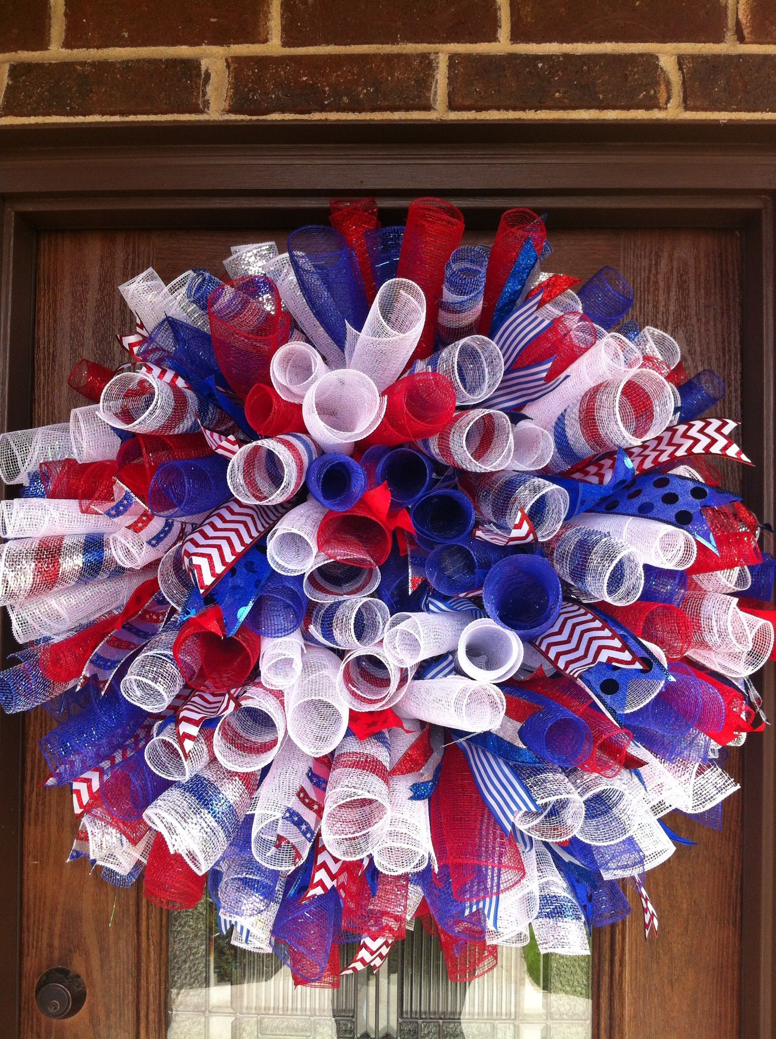 My 4th Of July Wreath Deco Mesh Wreaths Diy Wreath 4th Of July Wreath
