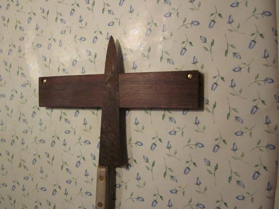 Black Walnut magnetic wood block knife rack 11 by koepckewoodworks
