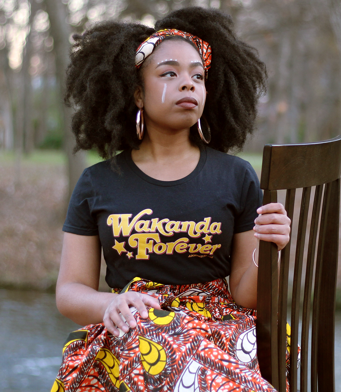 ... t-shirt. Wakanda Forever! Adorned by Chi Black Panther Woman  4085a25f5708