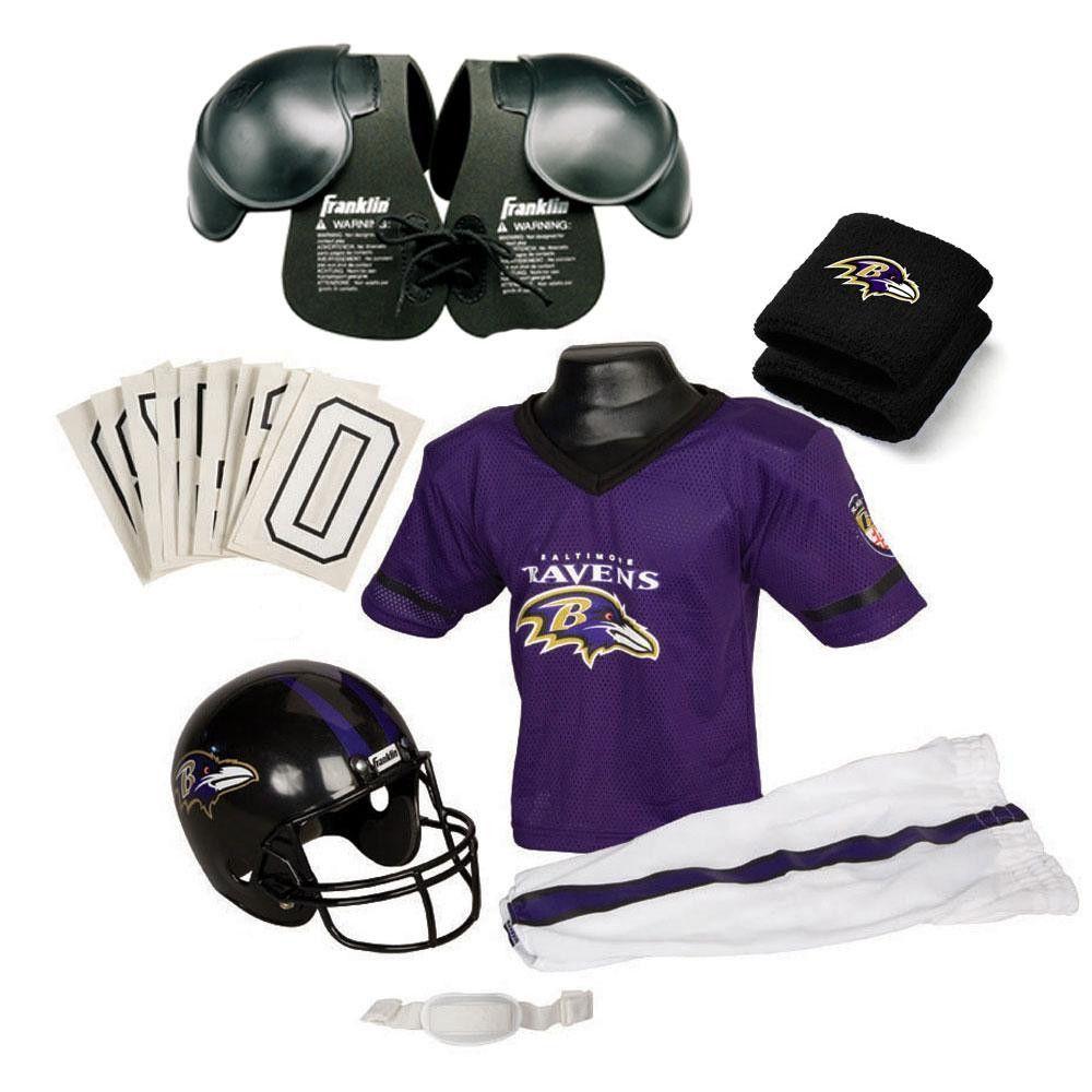 70817439 Baltimore Ravens Youth NFL Ultimate Helmet and Uniform Set (Medium ...