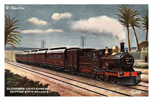 Egyptian State Railways Postcard, Cairo - Alexandria Express