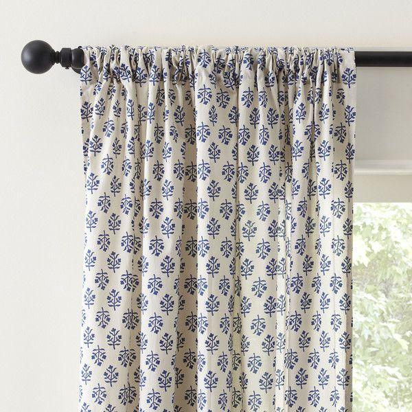 Birch Lane Gina Single Curtain Panel Curtains Drapes Curtains Floral Curtains