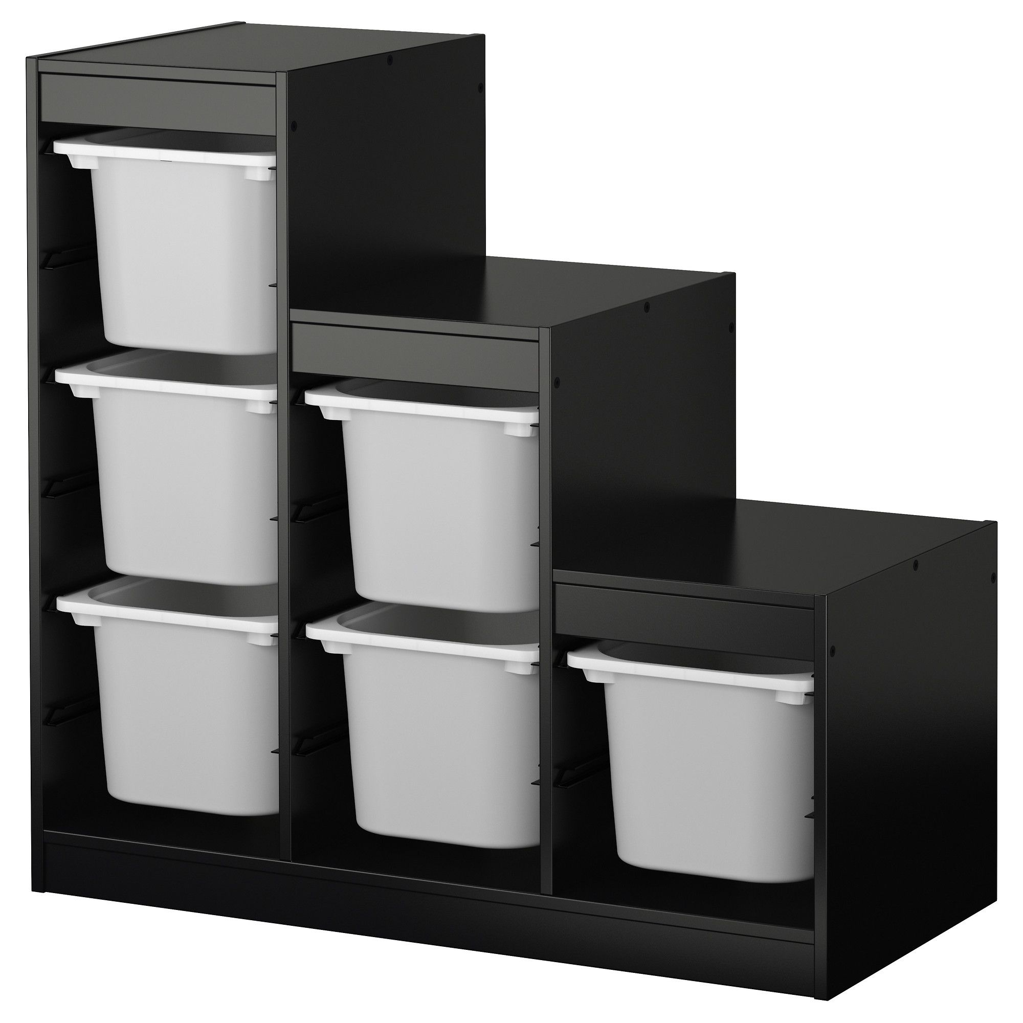 TROFAST, Storage Combination With Boxes, Black