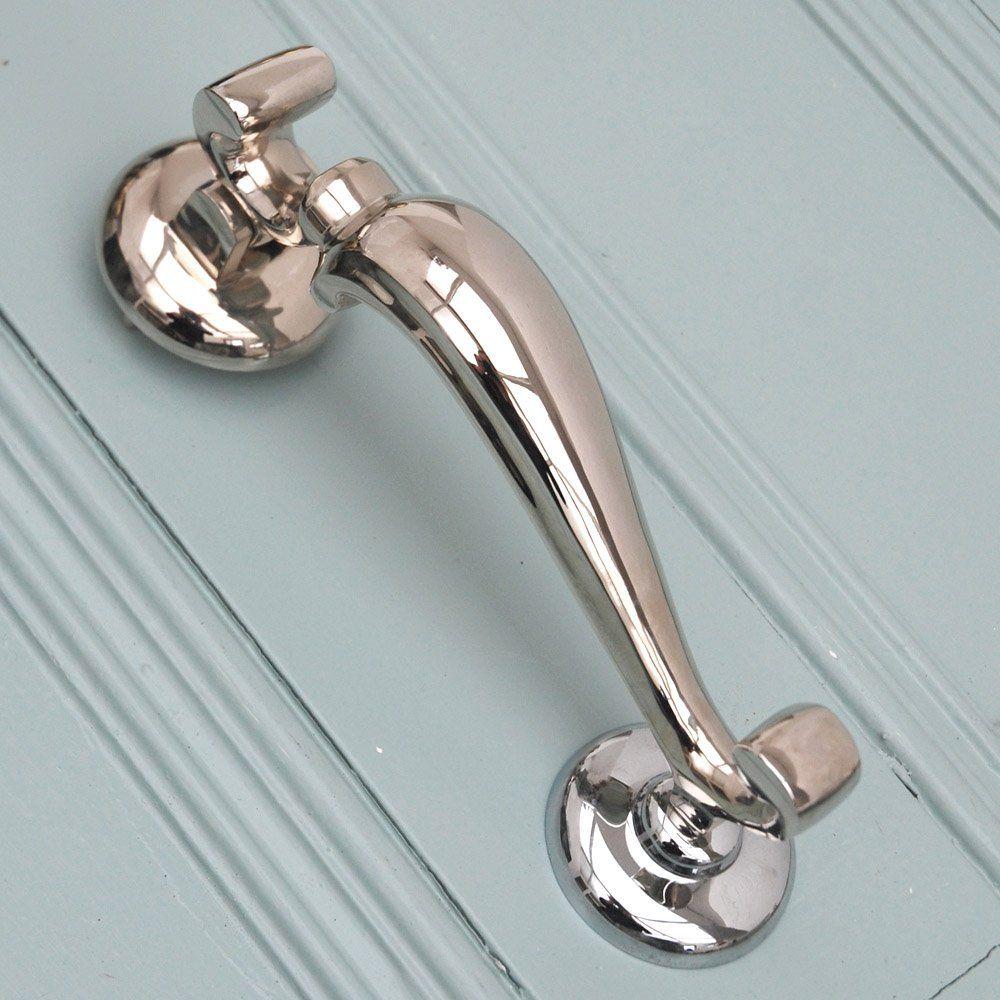 Polished nickel doctors door knocker bathroom accents for Beautiful door handles