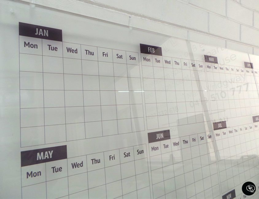 Calendar Planner Board : Frosted construction job board calendar monthly