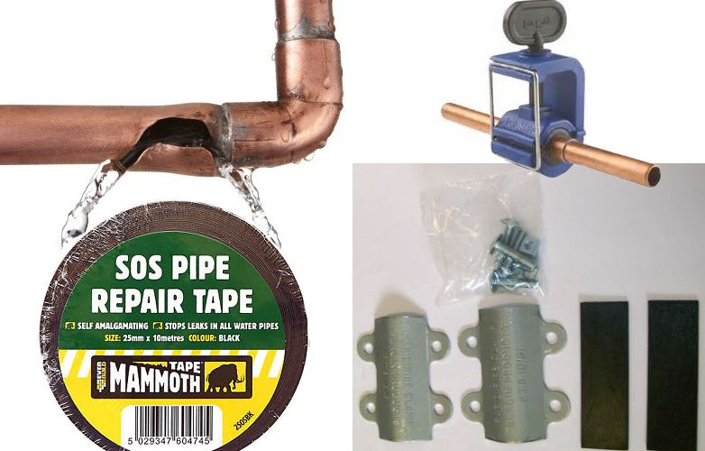 Ways To Stop A Leak In Busted Water Pipe Including Tape And Clamps