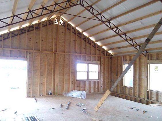residential using pole barn metal truss system #polebarndesigns residential using pole barn metal truss system #polebarnhomes