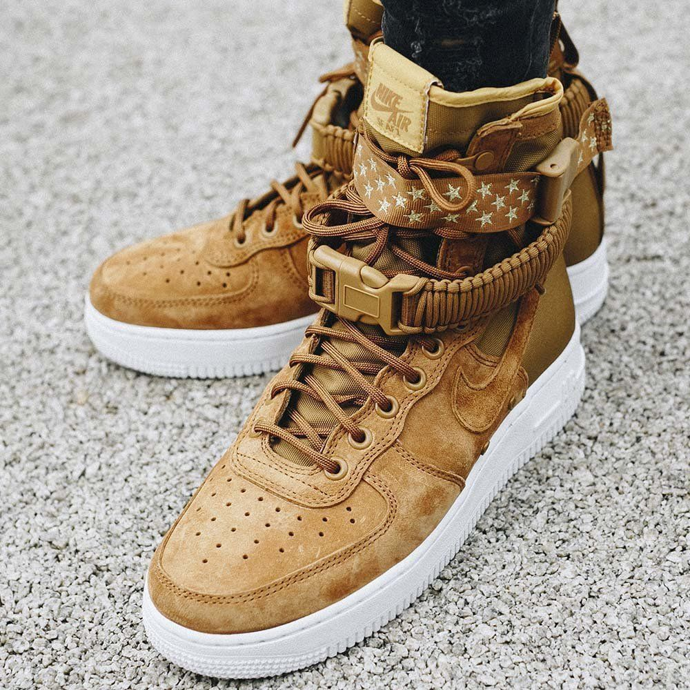 quality design 44802 a987a Nike SF Air Force 1  Muted Bronze White Wheat   Womens Trainers   857872-203   Nike