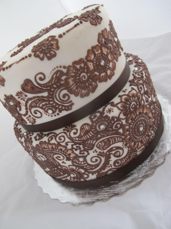 Simple Mehndi Cake : Mehndi cake cakes pinterest