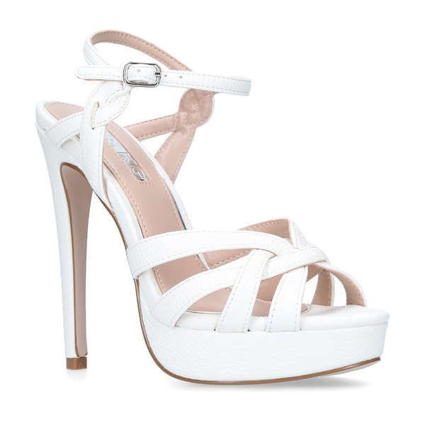 e96e1d39c849 White High Heel Sandals (155 CAD) ❤ liked on Polyvore featuring shoes