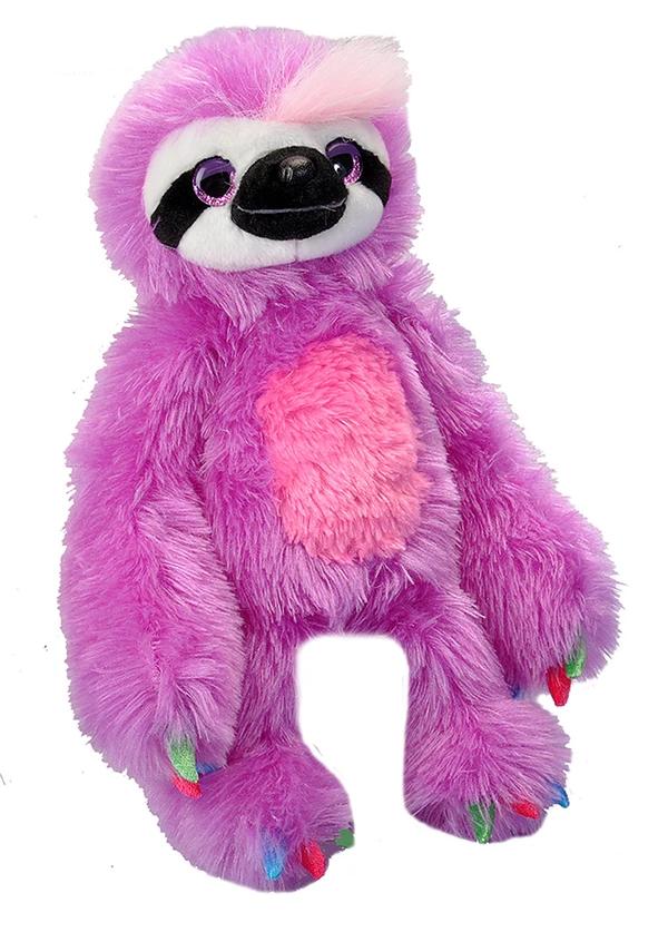 """Colorful Sloth Stuffed Animal 12"""" Sloth stuffed animal"""