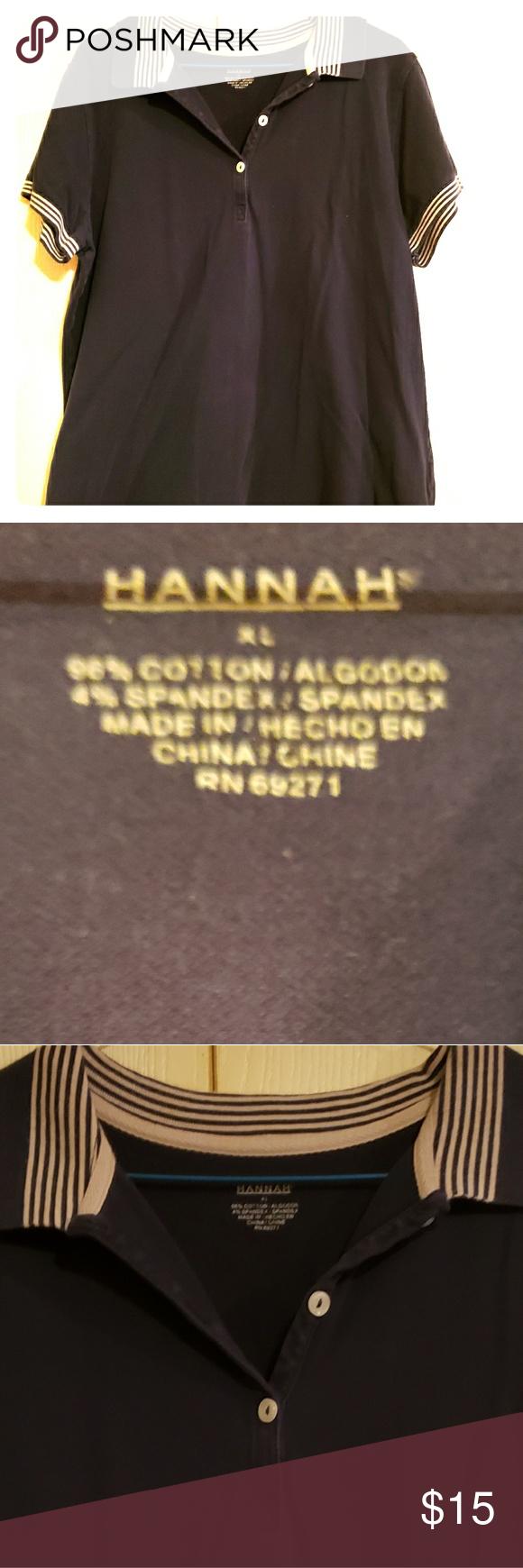 95b2de016eeef Hannah XL collar shirt Button up collar. Relaxed fit. Hannah Tops Button  Down Shirts