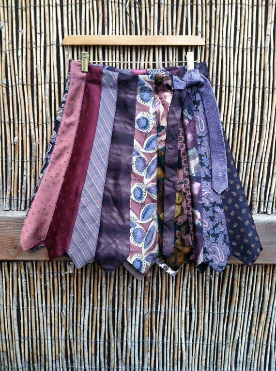 ties to make a skirt... cool idea