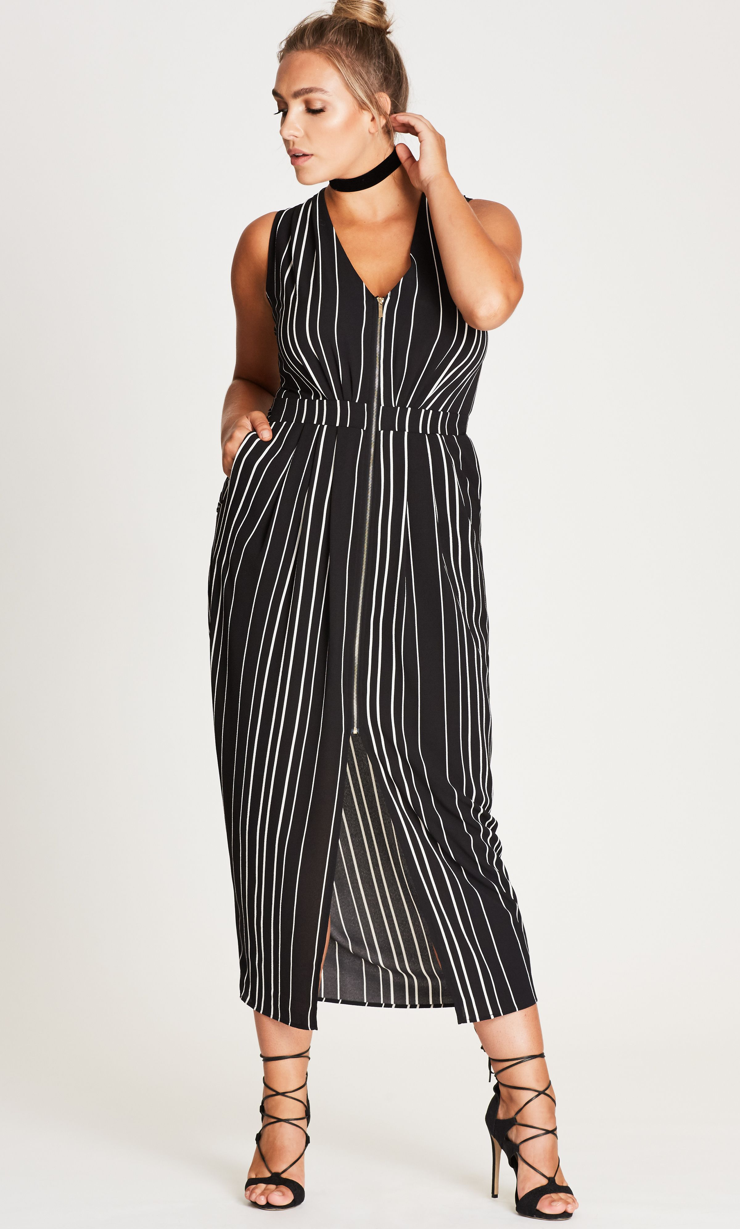 Style By Trend: Sports One City Chic - PLEATED ZIP FRONT DRESS ...