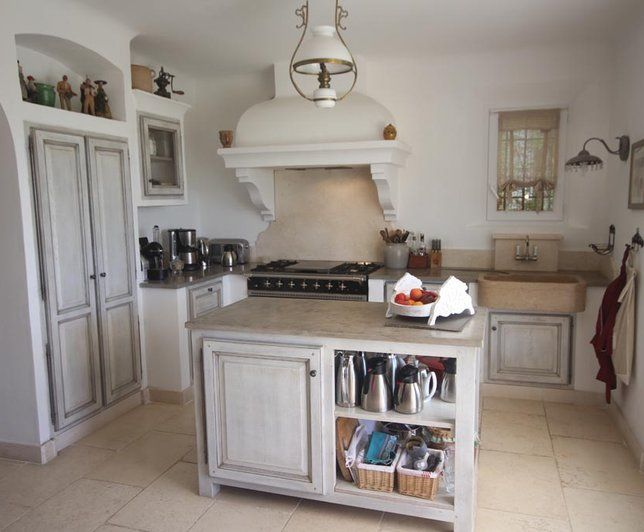 Photo Deco : Cuisine Blanc Campagne Maison de campagne Sud ...