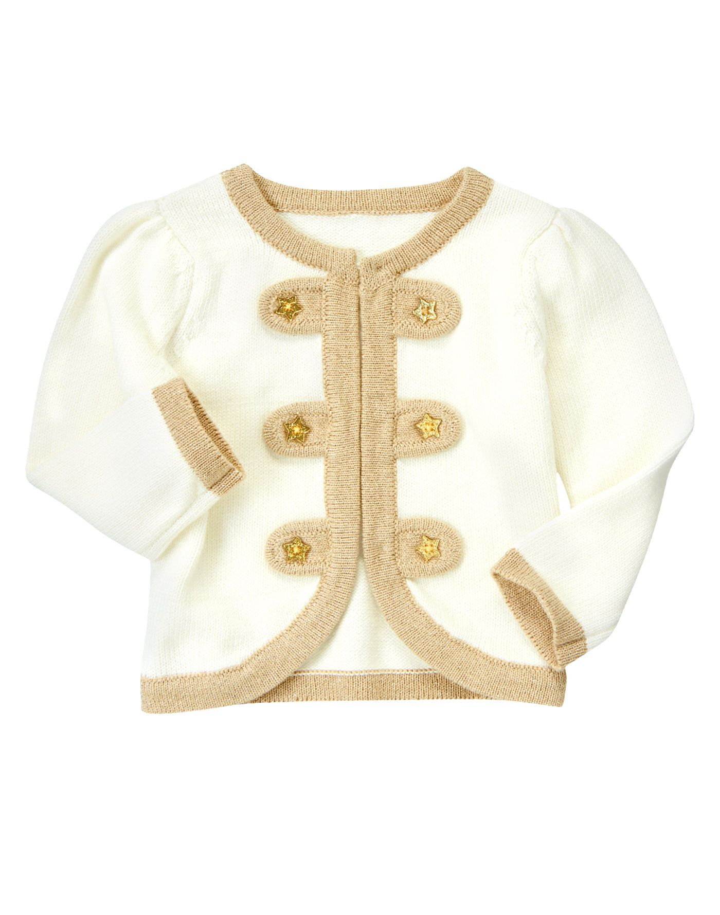 4c2df1f93 Big top style! Playful and soft sweater cardigan is fancied up with ...