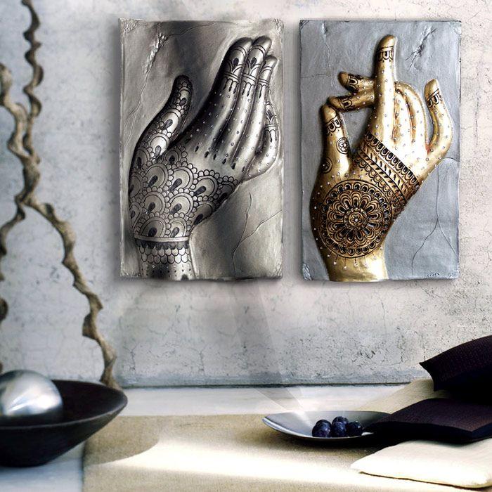 manos heenna, arte contemporane llenos de fusion y misticismo
