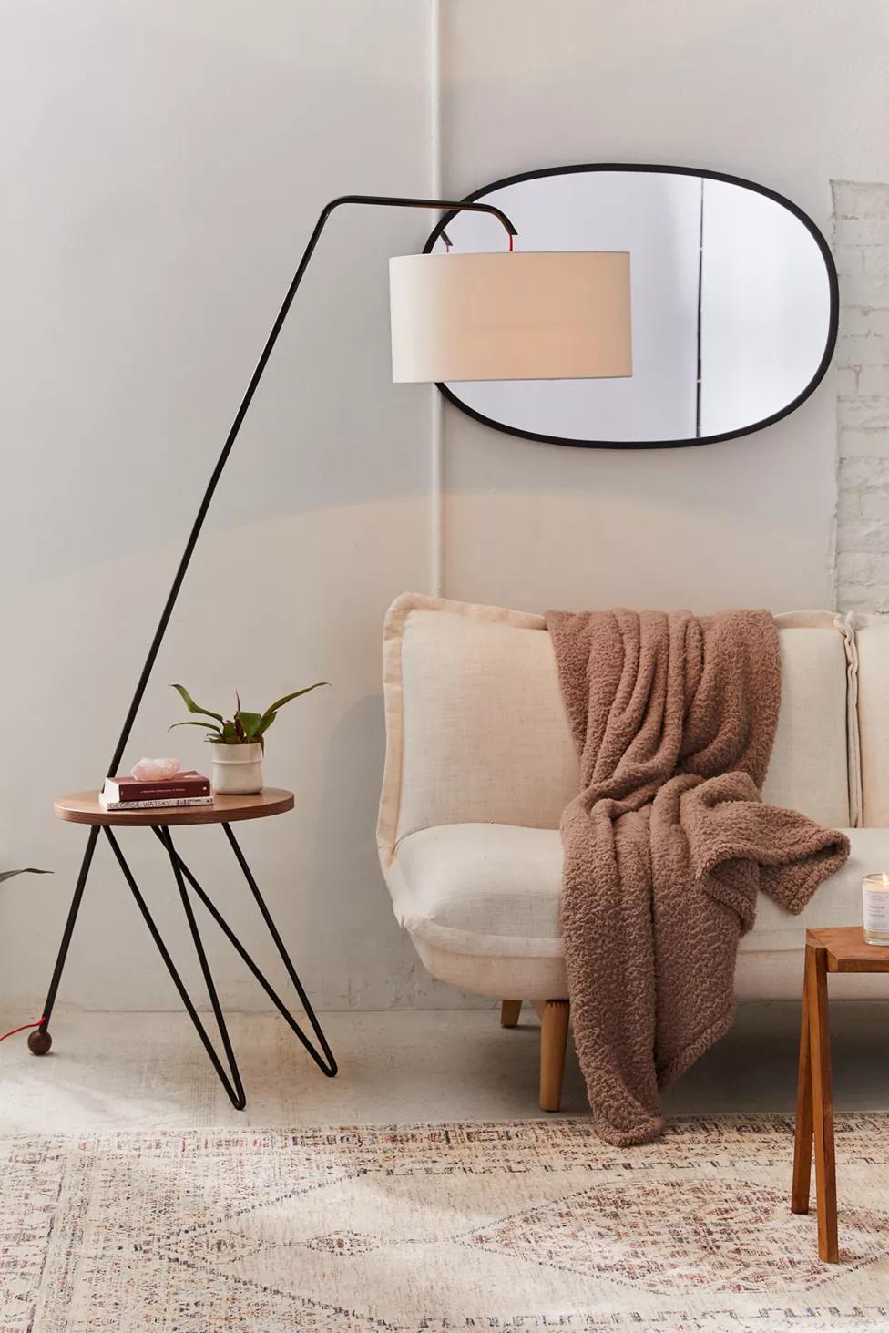 Tiernan Shelf Floor Lamp In 2020 Floor Lamps Living Room Floor Lamp With Shelves Lamps Living Room