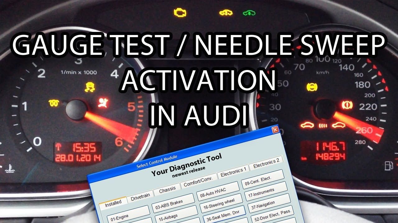 How to activate #Audi needle sweep / gauge test (#VCDS VAG