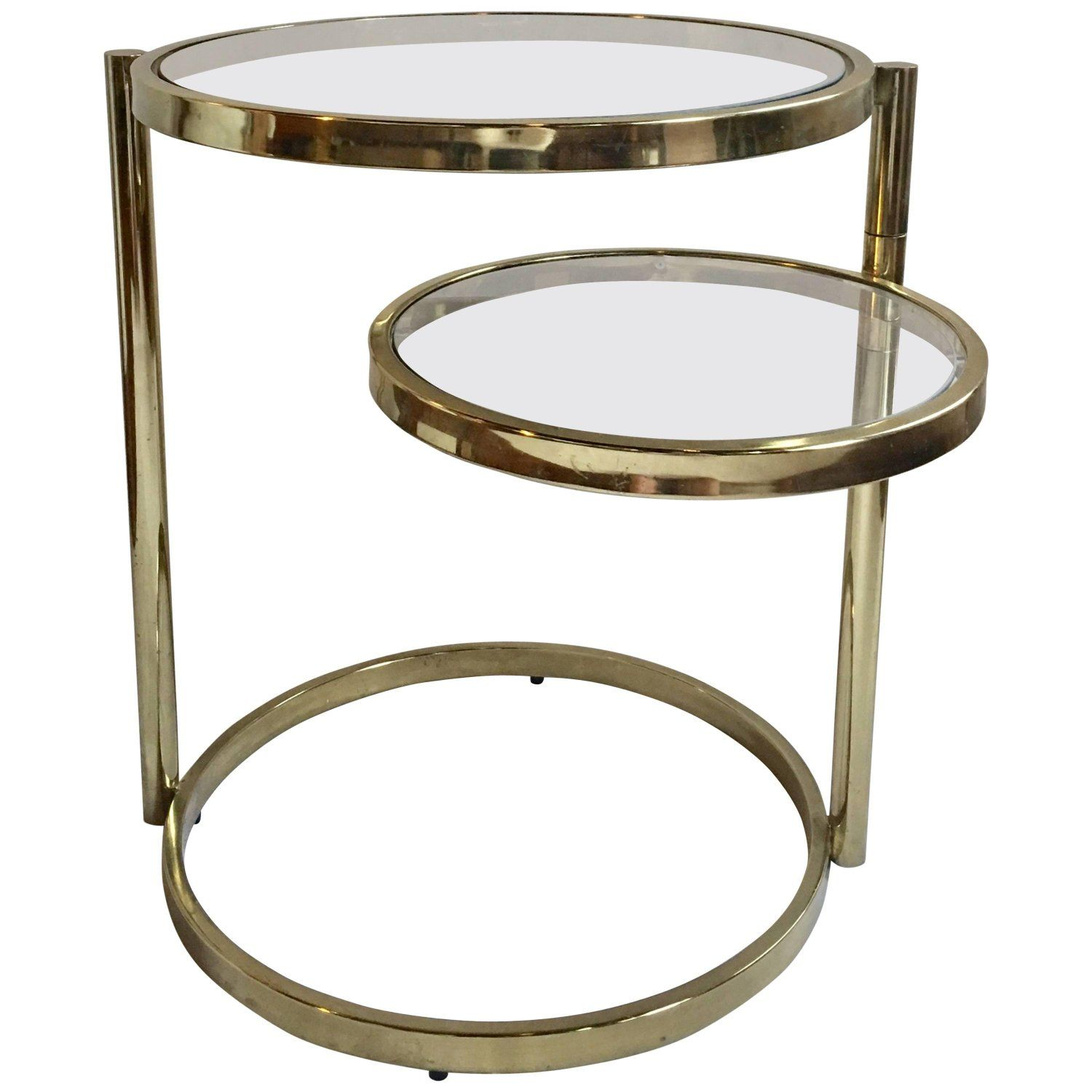 1970s Milo Baughman Style Articulating Brass Side Table With Swiveling Tier Coffee Table Brass Side Table Side Table [ 1500 x 1500 Pixel ]