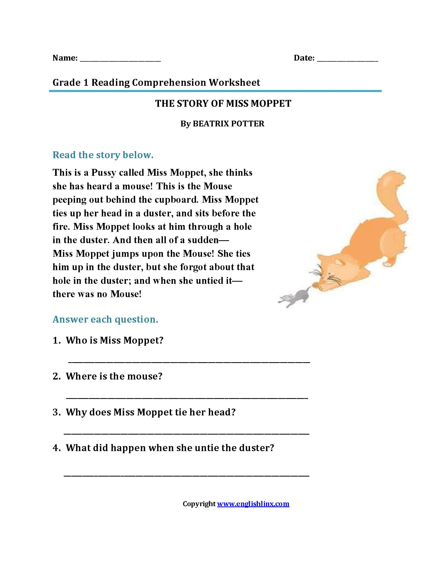 1st Grade Reading Worksheets In