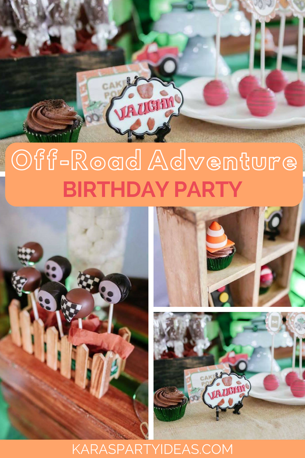 off road adventure birthday party awesome party ideas pinterest