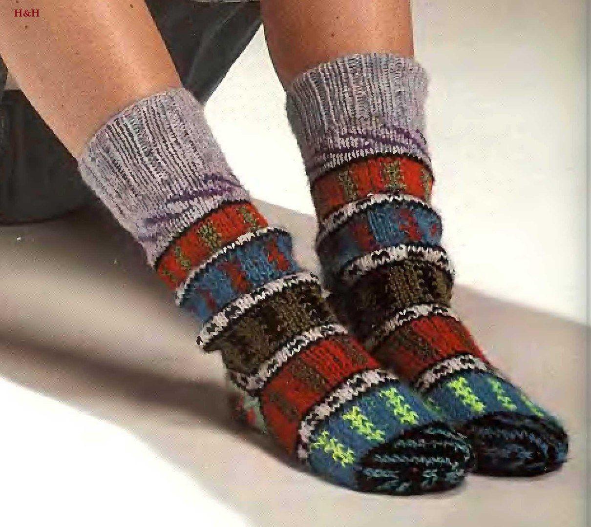 схема узора для турецких носков