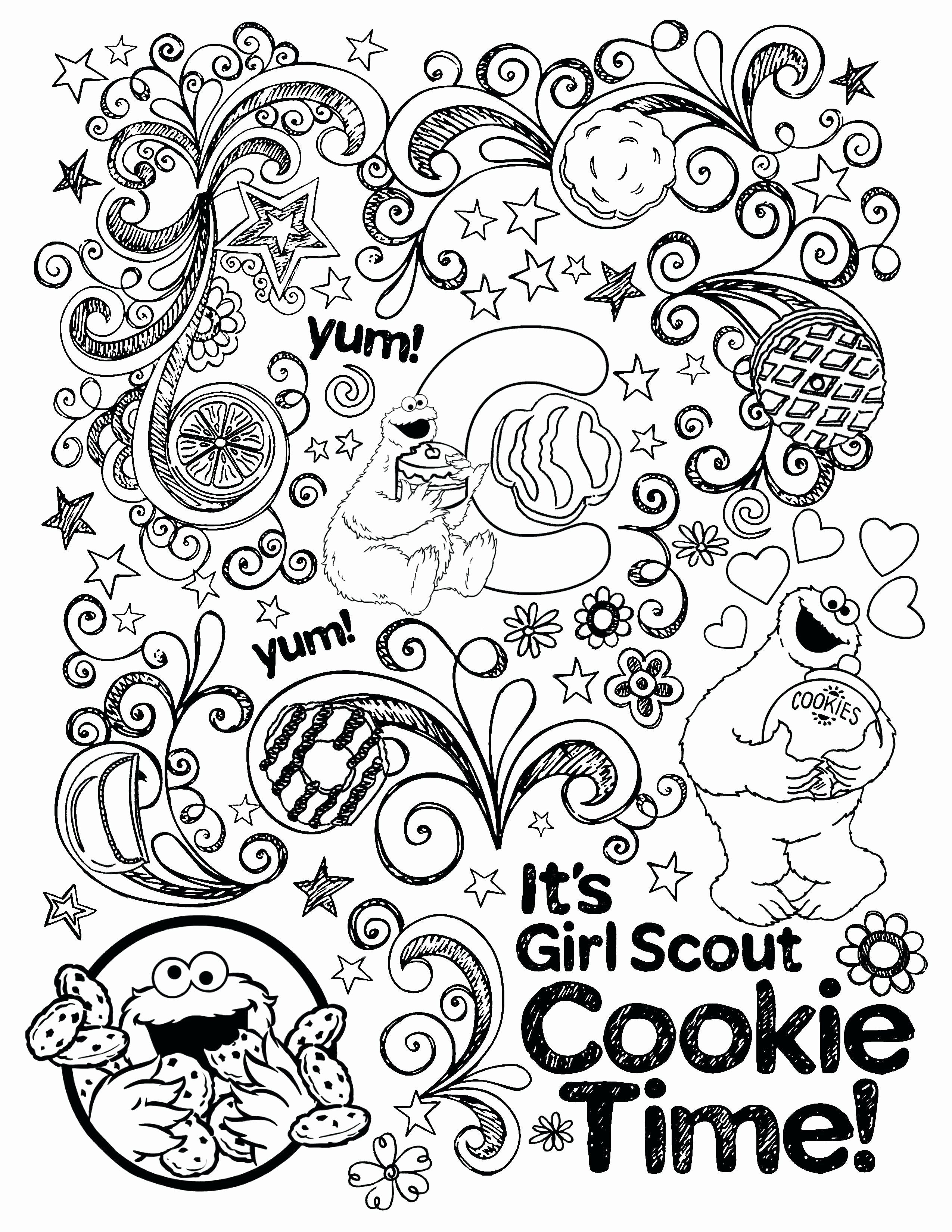Camping Coloring Pages For Preschool Fresh Girl Scout Camping