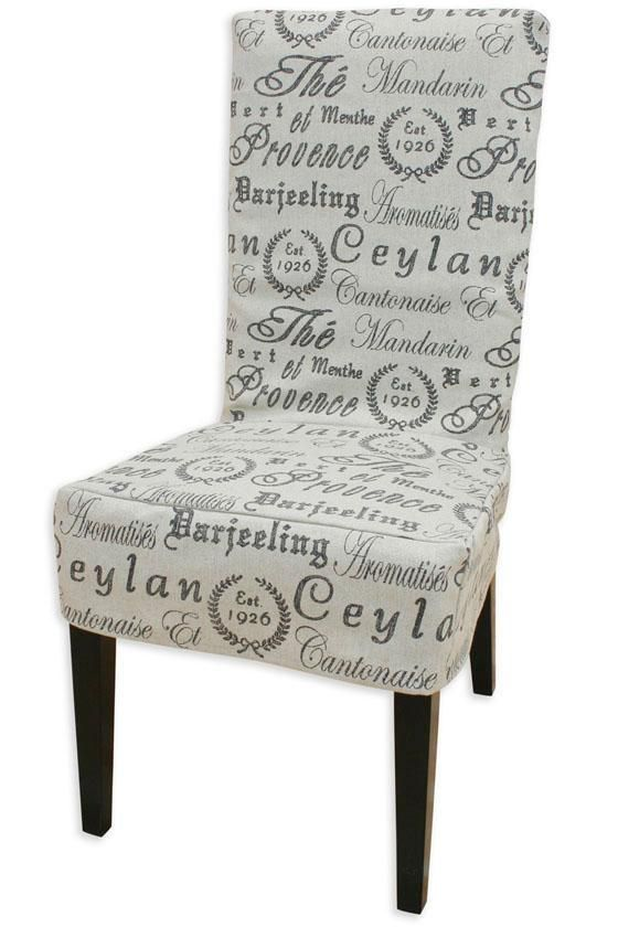 Crestmont Black Parsons Chair Slipcover For End Chairs.