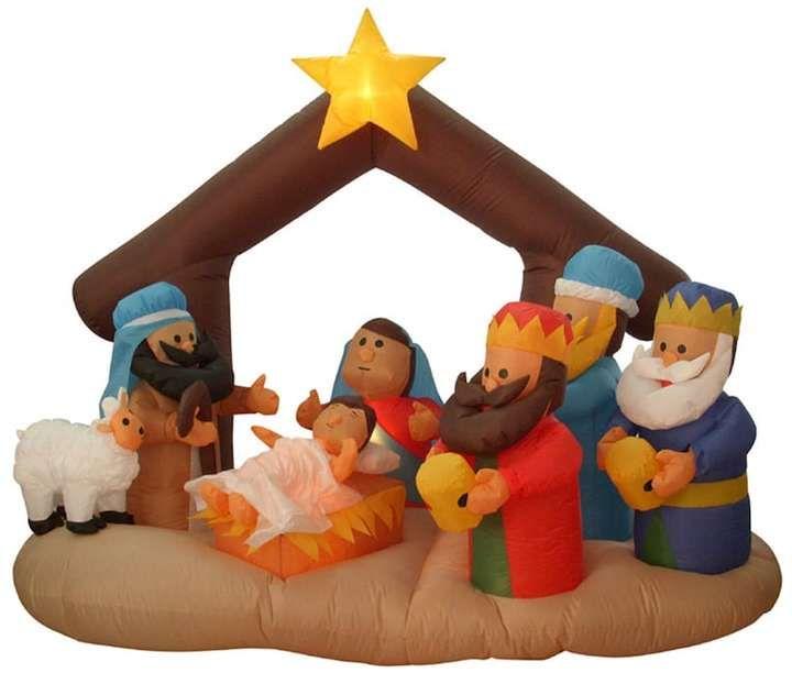 65-ft Pre-Lit Inflatable Nativity Scene Outdoor Christmas Decor